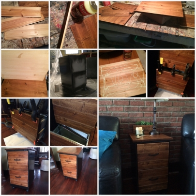 Rustic End Table/File Cabinet